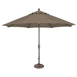 Havenside Home Hapuna 11-foot Octagon Push Button Tilt Umbrella (Taupe - Olefin Canopy)
