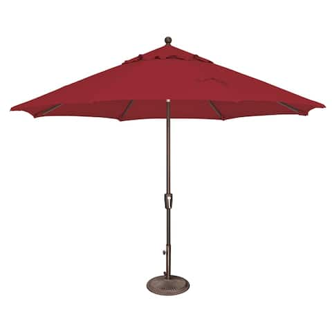 Hapuna 11-foot Octagon Push Button Tilt Umbrella by Havenside Home, Base Not Included
