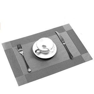 Copper Grove Wildungen Silvertone Woven Vinyl Insulating Placemat Table Mats (Set of 6)