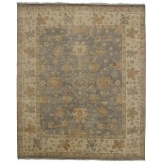 Pasargad DC Handmade Oushak Design Olive and Ivory Wool Rug - 8'3 x 9'10