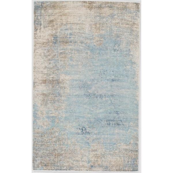 Modern Wool And Bamboo Silk Area Rug