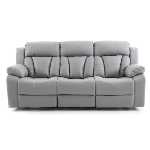LYKE Home Grey Reclining Sofa