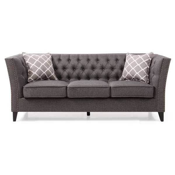 Miraculous Shop Lyke Home Nailhead Trim Grey Sofa Free Shipping Today Forskolin Free Trial Chair Design Images Forskolin Free Trialorg