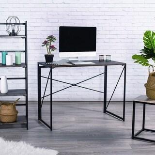 Carbon Loft Searz Folding Computer Desk Modern Simple Industrial Style
