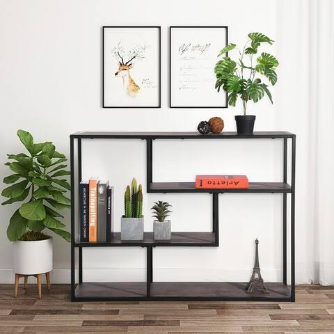 Carbon Loft Mateo Metal Bookcase Console Bookshelves