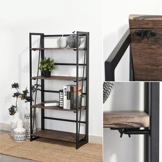 Carbon Loft Searz 4-shelf Metal Bookcase Storage Bookshelves Wall Ladder