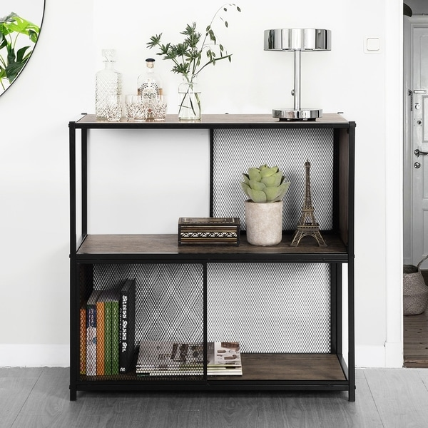 Carbon Loft Talley Metal Bookcase Bookshelves Reading Room Organizer