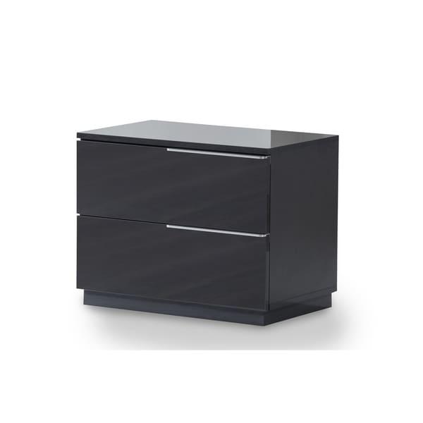 Warsaw Grey 2-Drawer Nightstand Left