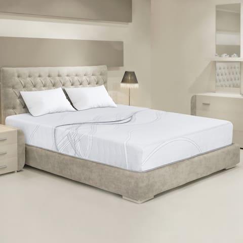 Sleeplanner 10-inch Hybrid Gel Memory Foam Coil Spring Mattress