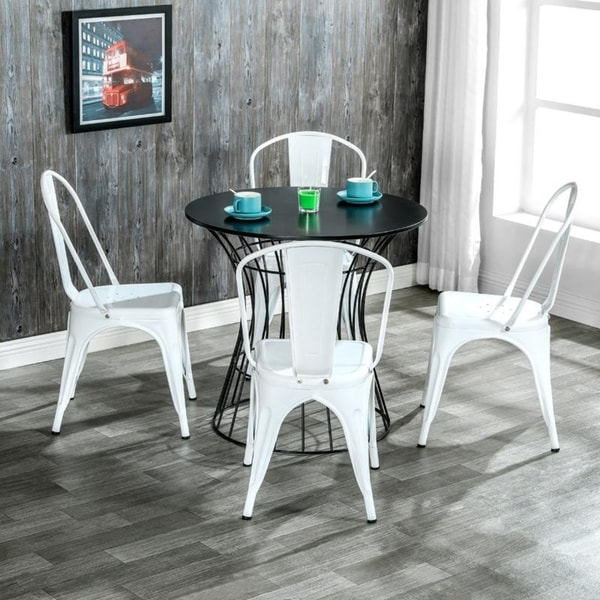 Morden Industrial Style Iron Dining Room Chairs Kitchen Trattoria Chairs Set of 4. Opens flyout.
