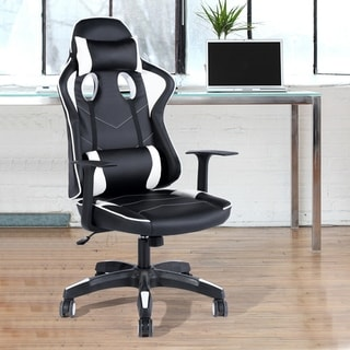Link to Porch & Den Rylee Ergonomic High-back Racing Swivel Gaming Chair Similar Items in Home Office Furniture