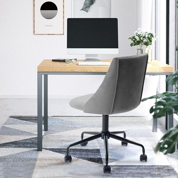 Porch & Den Voges Ergonomic Home Office Chair   Grey by Porch & Den