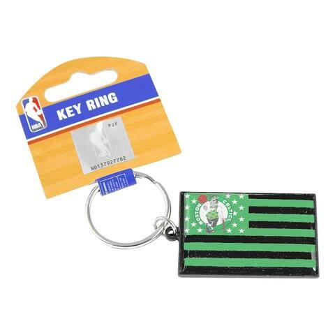 NBA Boston Celtics Americana American Flag Sports Team Logo Metal Key Ring Keychain
