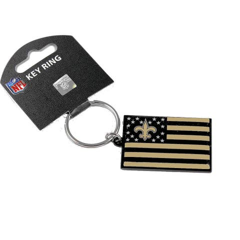 NFL New Orleans Saints Americana American Flag Sports Team Logo Metal Key Ring Keychain