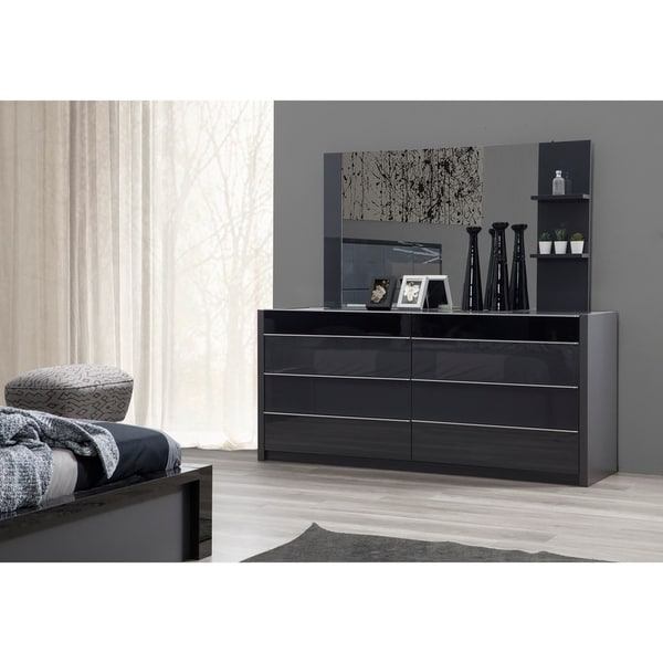 MILAN 6 Drawer Dresser with Mirror