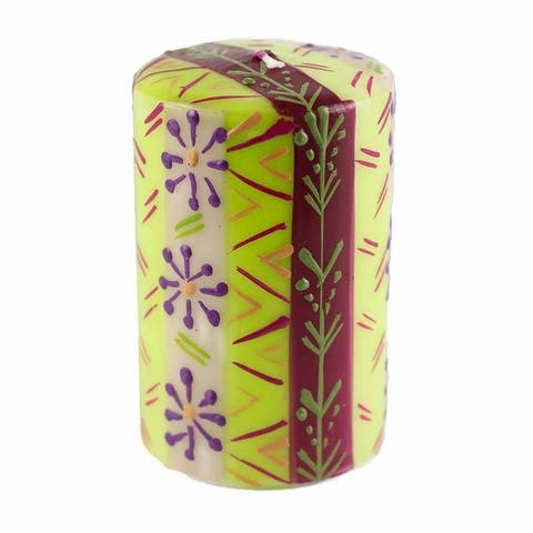 """Hand Painted Candles in """"Kileo"""" Design (pillar)"""