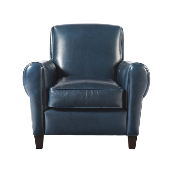 Blue Leather Accent Chair: Shop Laguna Blue Leather Accent Chair