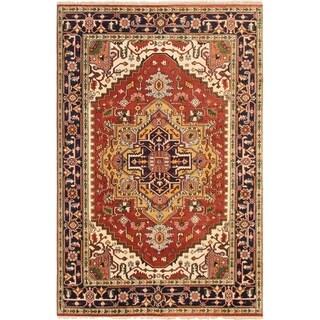 ECARPETGALLERY Hand-knotted Serapi Heritage Dark Copper Wool Rug - 5'10 x 8'11
