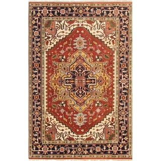 ECARPETGALLERY Hand-knotted Serapi Heritage Dark Copper Wool Rug - 5'10 x 8'11