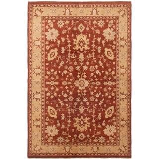 ECARPETGALLERY Hand-knotted Chobi Finest Dark Copper Wool Rug - 5'6 x 8'2