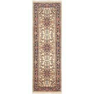 ECARPETGALLERY Hand-knotted Serapi Heritage Cream Wool Rug - 2'7 x 8'0