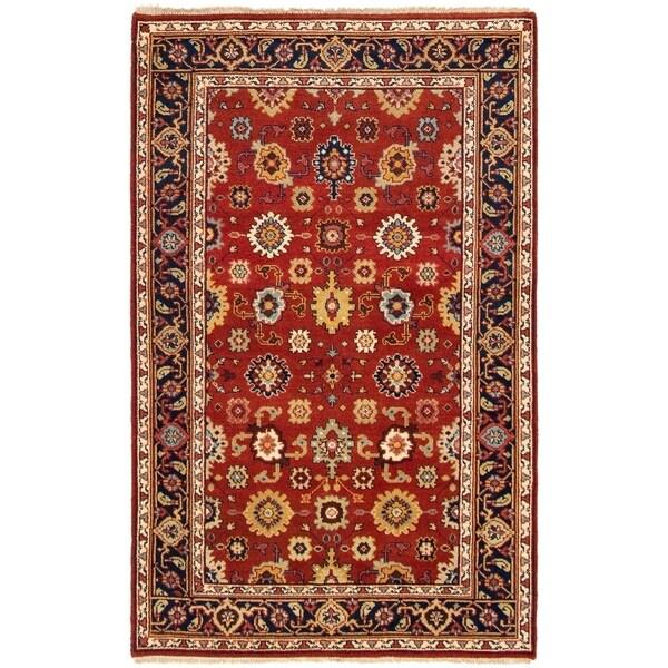 ECARPETGALLERY Hand-knotted Serapi Heritage Dark Copper Wool Rug - 5'0 x 8'0
