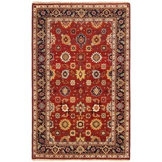 ECARPETGALLERY Hand-knotted Serapi Heritage Dark Copper Wool Rug - 5'0 x 8'0