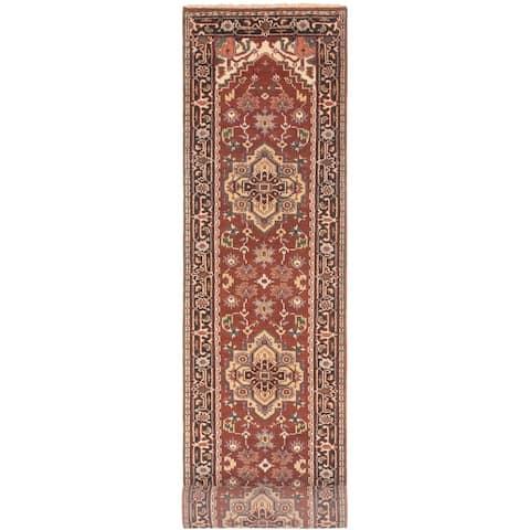ECARPETGALLERY Hand-knotted Serapi Heritage Dark Copper Wool Rug - 2'7 x 19'6