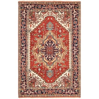 ECARPETGALLERY Hand-knotted Serapi Heritage Dark Copper Wool Rug - 5'2 x 8'0