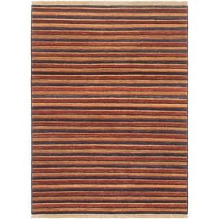 ECARPETGALLERY Hand-knotted Finest Ziegler Chobi Dark Copper Wool Rug - 4'9 x 6'5