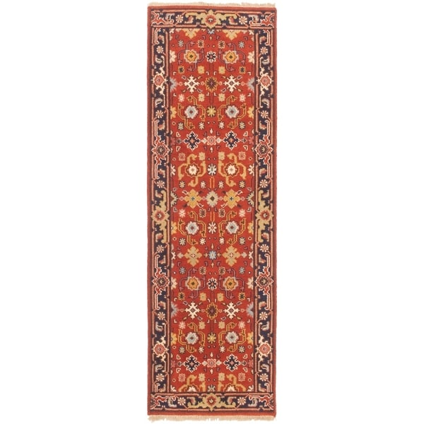 ECARPETGALLERY Hand-knotted Serapi Heritage Red Wool Rug - 2'5 x 7'11
