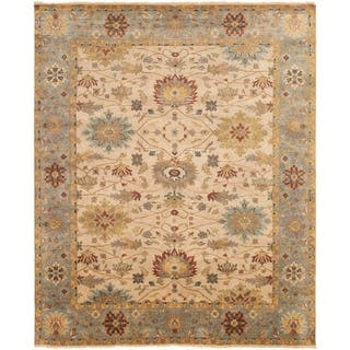 ECARPETGALLERY Hand-knotted Jules Serapi Ivory Wool Rug - 8'1 x 9'10