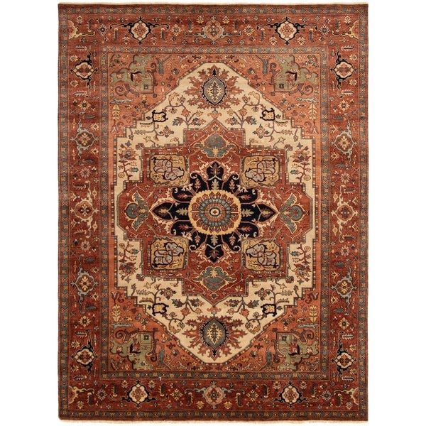 ECARPETGALLERY Hand-knotted Jules-Sultane Dark Copper Wool Rug - 9'0 x 12'2