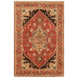 ECARPETGALLERY Hand-knotted Serapi Heritage Dark Copper Wool Rug - 6'0 x 9'3