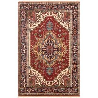 ECARPETGALLERY Hand-knotted Serapi Heritage Dark Copper Wool Rug - 4'11 x 7'8