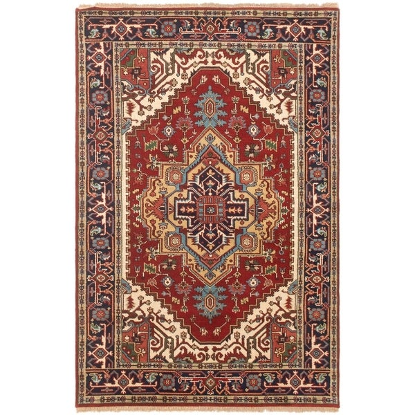 ECARPETGALLERY Hand-knotted Serapi Heritage Dark Copper Wool Rug - 4'11 x 7'8