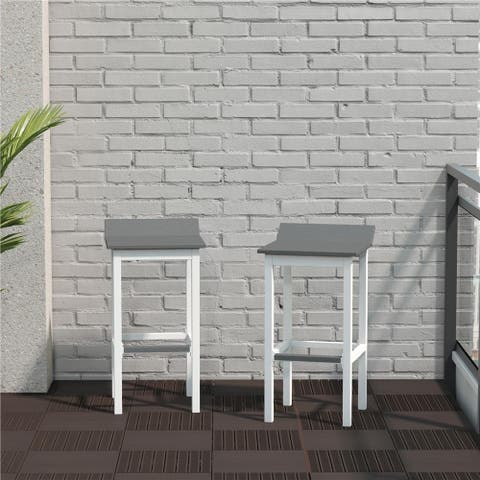 CosmoLiving by Cosmopolitan Ariesa Collection Outdoor Bar Stools Set of 2
