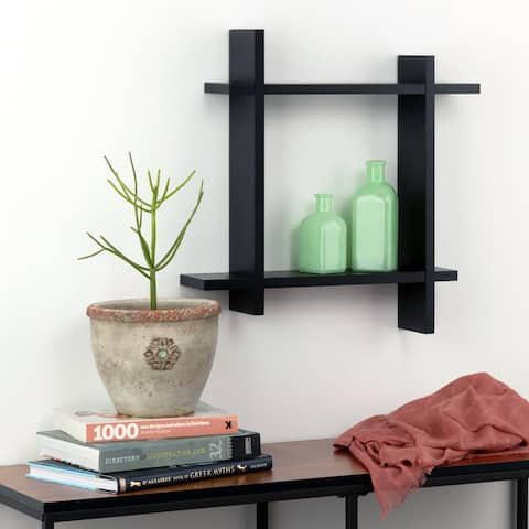 Burnes of Boston Interlocking Floating Wall Shelf Ledge Storage Cubby