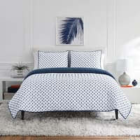 Lemon Tree Dina Navy Quilt Set