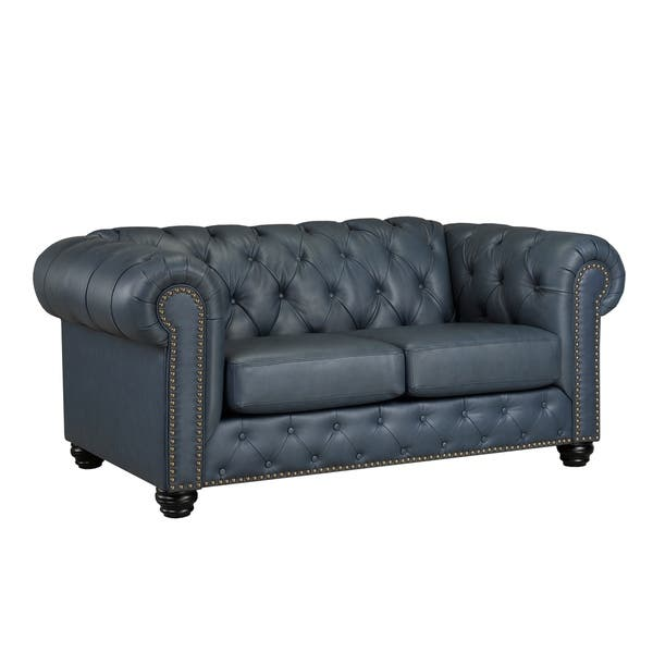 Fantastic Shop Wigan Top Grain Leather Loveseat On Sale Free Onthecornerstone Fun Painted Chair Ideas Images Onthecornerstoneorg