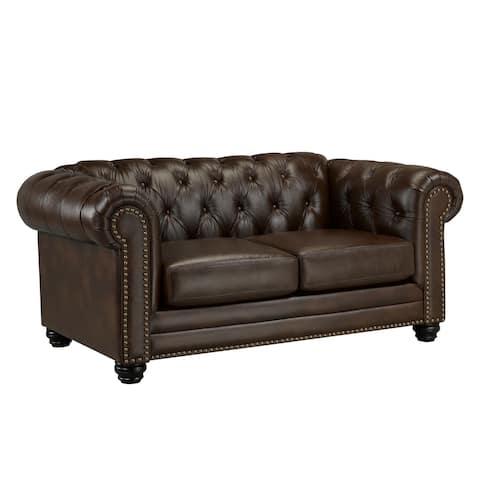 Maryport Top Grain Leather Loveseat