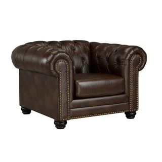 Link to Maryport Top Grain Leather Chair Similar Items in Living Room Chairs