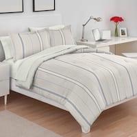 Utica Amy Stripe Blue/Yellow Comforter Set