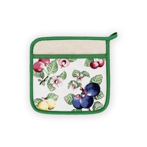 "Villeroy and Boch French Garden Kitchen Pot Holder Pair - 8""x9"""
