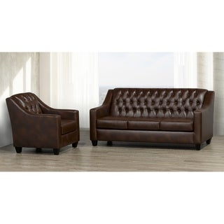 Keighley Top Grain Leather Sofa and Armchair Set