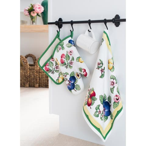 "Villeroy and Boch French Garden Kitchen Towel, Set of 2 - 18""x28"""