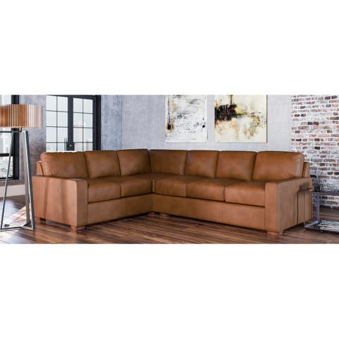 Maxim Genuine Leather Right Facing Sectional
