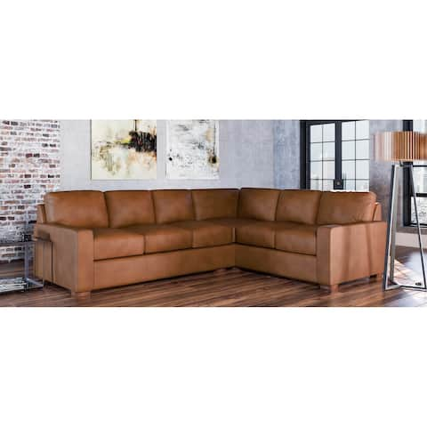 Maxim Genuine Leather Left Facing Sectional