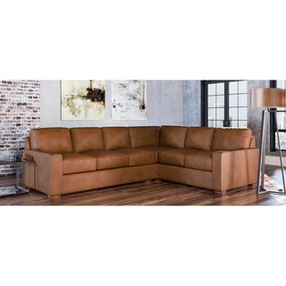Link to Maxim Genuine Leather Left Facing Sectional Similar Items in Living Room Furniture