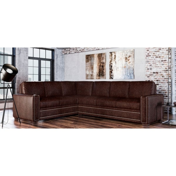 Evelyn Genuine Leather Right Facing Sectional. Opens flyout.